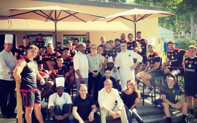 Pause café pour l'équipe du Lou Rugby